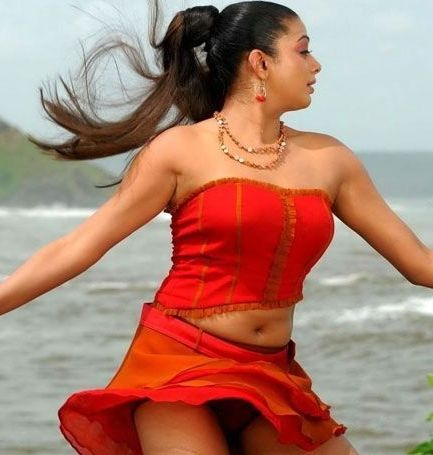 priyamani hot armpit and navel show in hot and sexy red