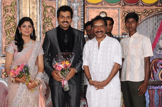 actor karthi wedding reception photos and videos