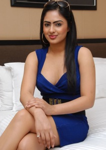 Hot Heroine Nikesha New Photo shot in Bule Dress hot images