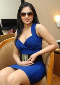Hot Heroine Nikesha New Photo shot in Bule Dress sexy stills
